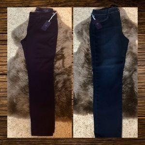 Bundle of 2 NWT NYDJ Jeans Size 14 Skinny